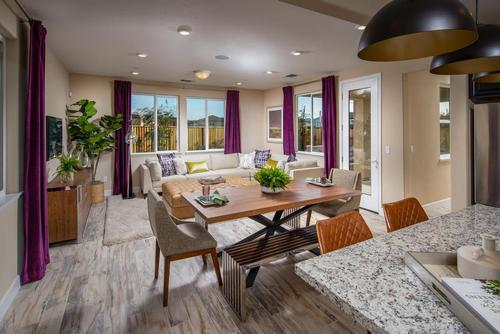 Greatroom-and-Dining-in-Cottonwood-at-Tierra at Monte Bella-in-Salinas