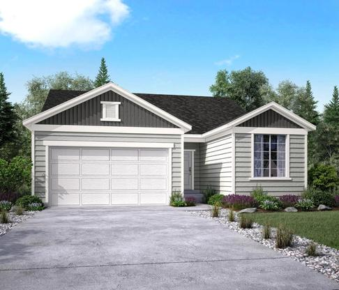The Echo Elevation A at Vistas at Eastgate in Layton by Century Communities:Elevation A