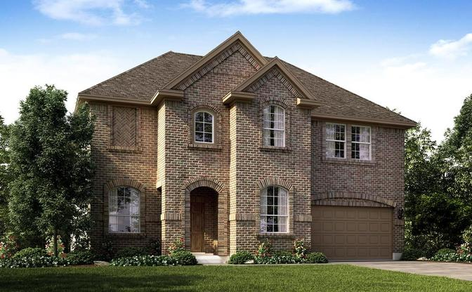 The Anderson elevation A rendering, specific to Blackhawk in Pflugerville by Century Communities.