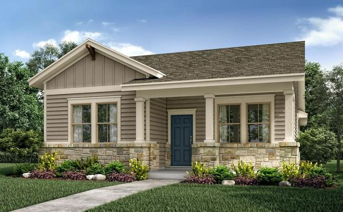 Rendering of the Lavaca plan, elevation C at Crystal Springs - The Falls, in Leander, by Century Com