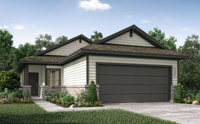 The Edwards rendering elevation F, specific to Grayson, in Leander, by Century Communities.:Elevation F