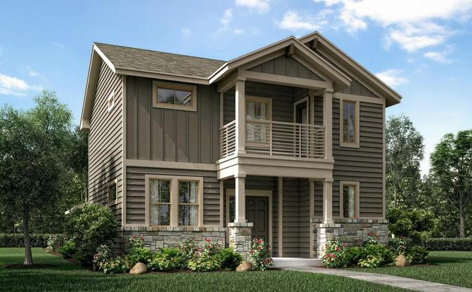 The Concho rendering elevation C, at Crystal Springs - The Falls in Leander, by Century Communities.:Elevation C