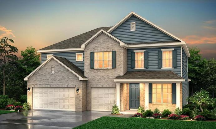 4-5 bedroom 2 story home with a three car garage.