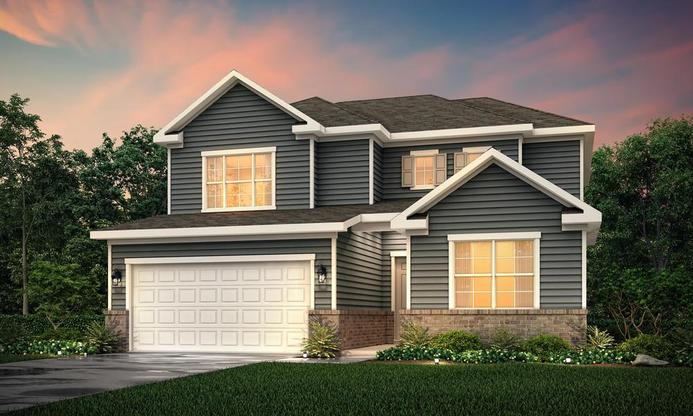 2 story  home with 3 bedrooms, a study and a large island kitchen.