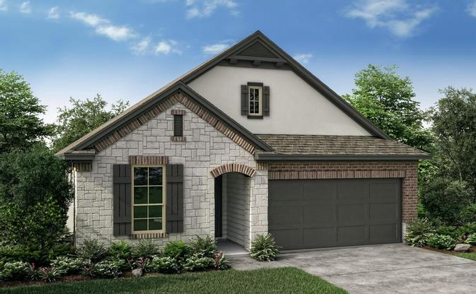 The Pinion elevation D rendering, specific to The Classic collection at SaddleCreek, in Georgetown,