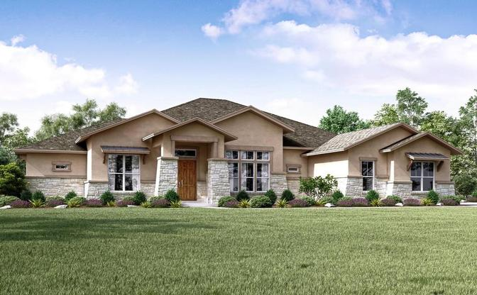 The Heritage rendering, elevation D, specific to Reagan's Overlook, an acreage community in Lean:Elevation D