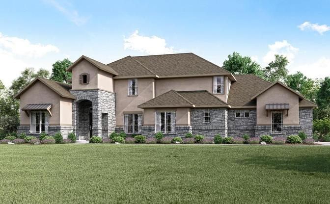 Rendering of the Gleaton plan, elevation D, at Reagan's Overlook in Leander, by Century Communities.
