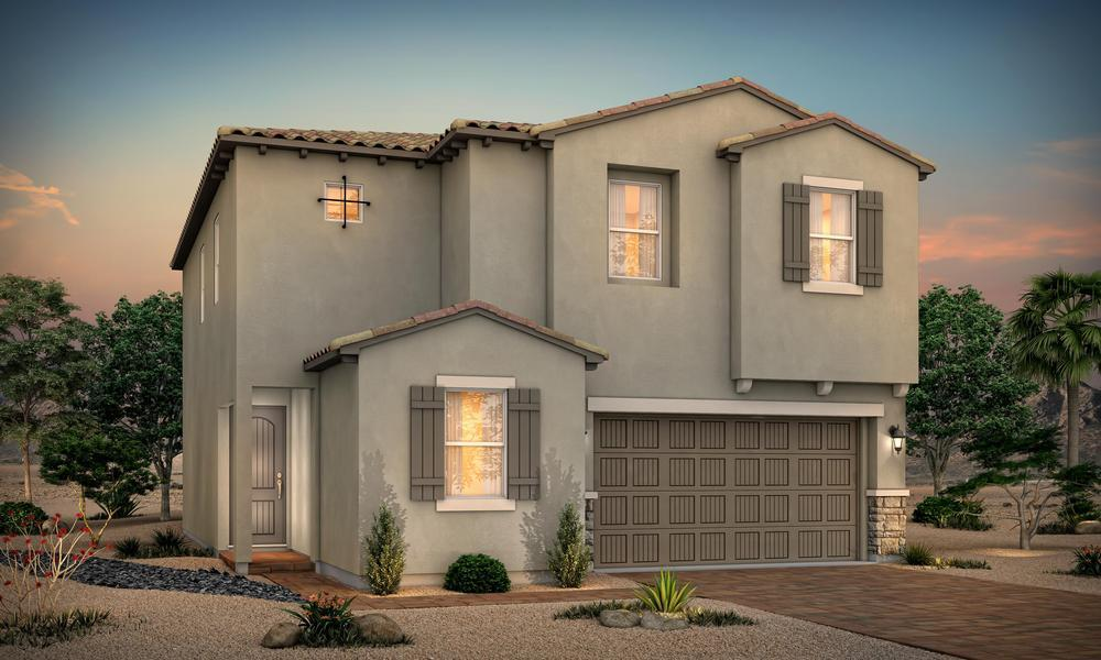 Exterior featured in the Residence 2581 By Century Communities in Las Vegas, NV