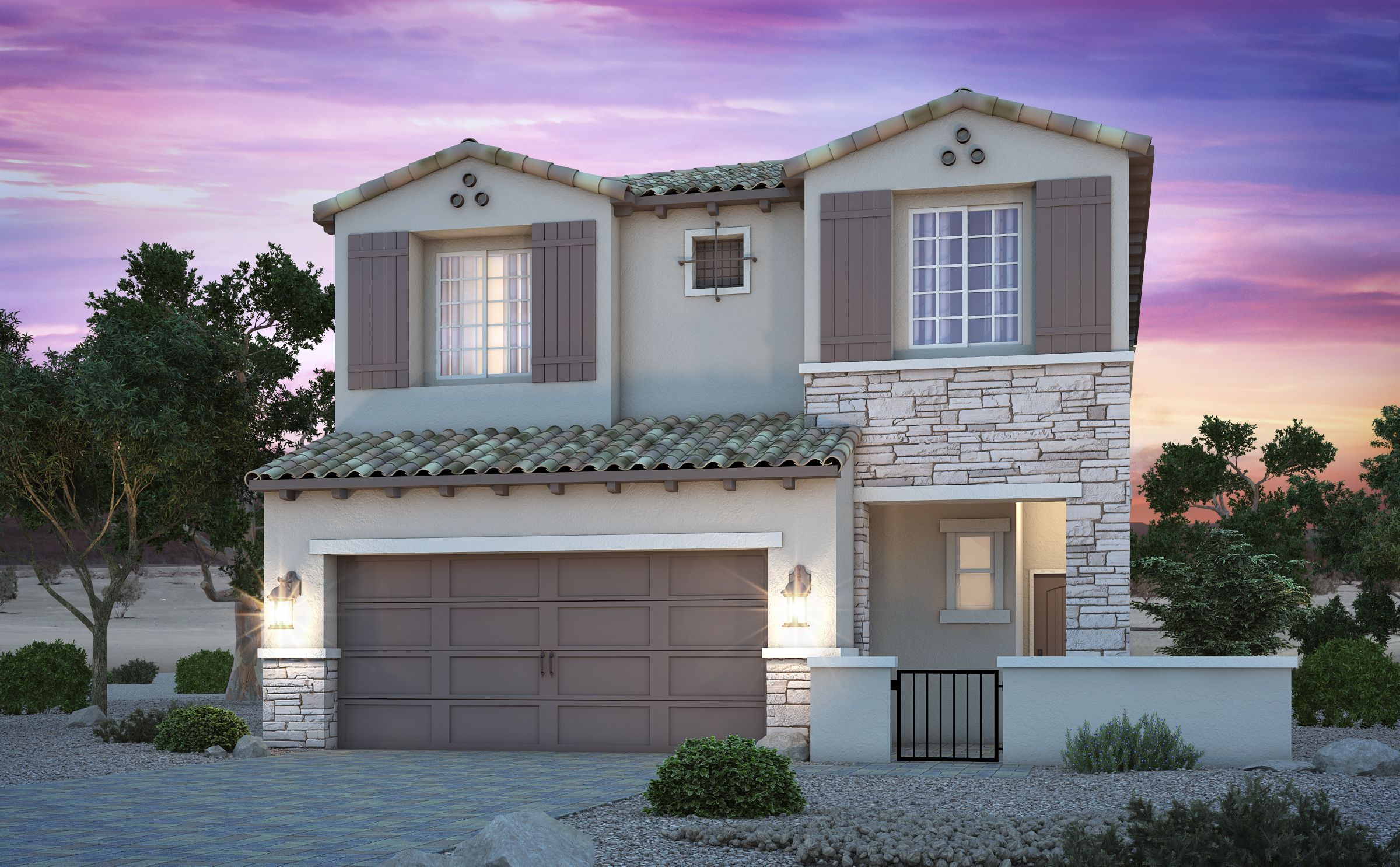 Exterior featured in the Residence 1731 By Century Communities in Las Vegas, NV