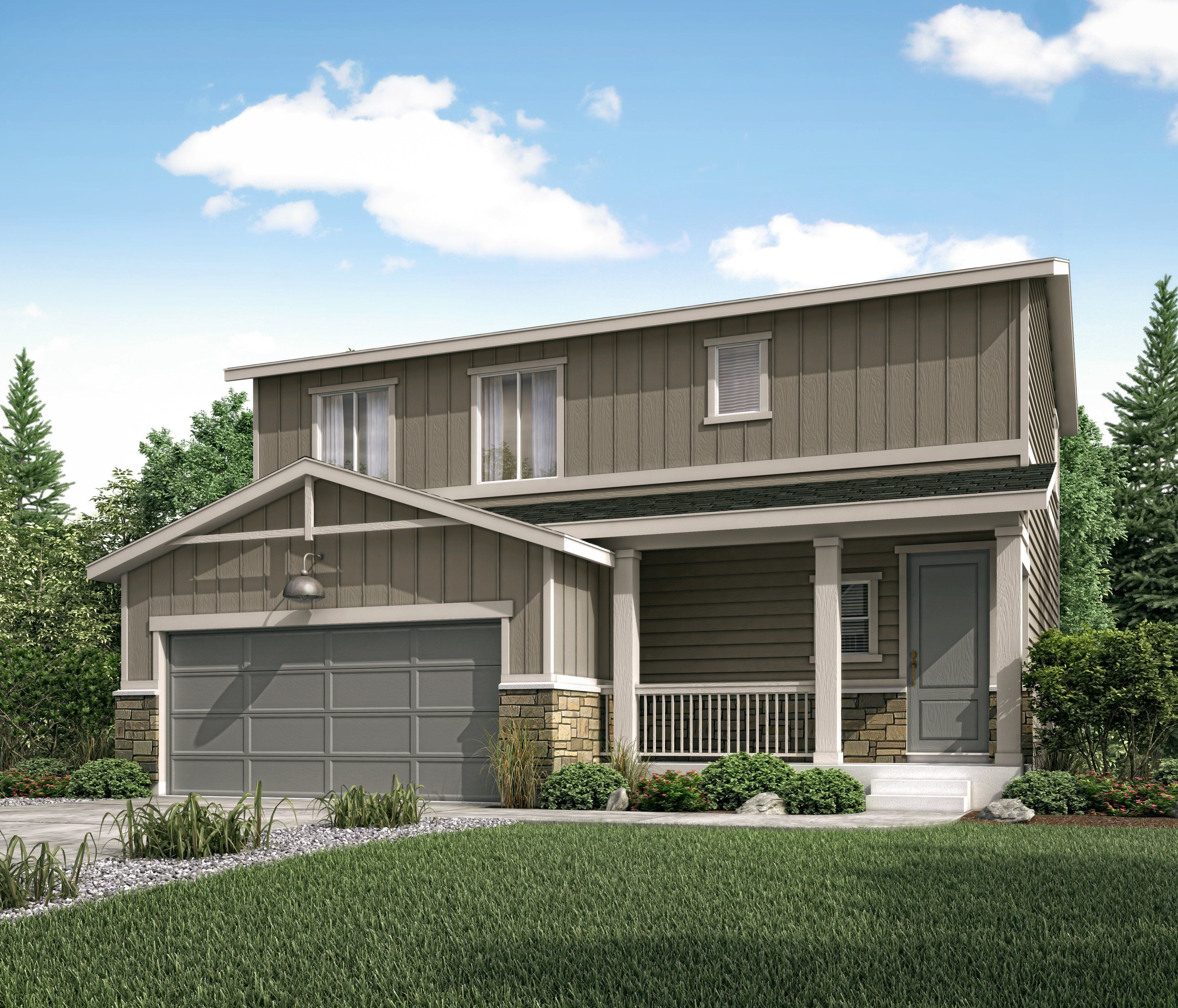 Exterior featured in the Durango (Residence 36203) By Century Communities in Colorado Springs, CO