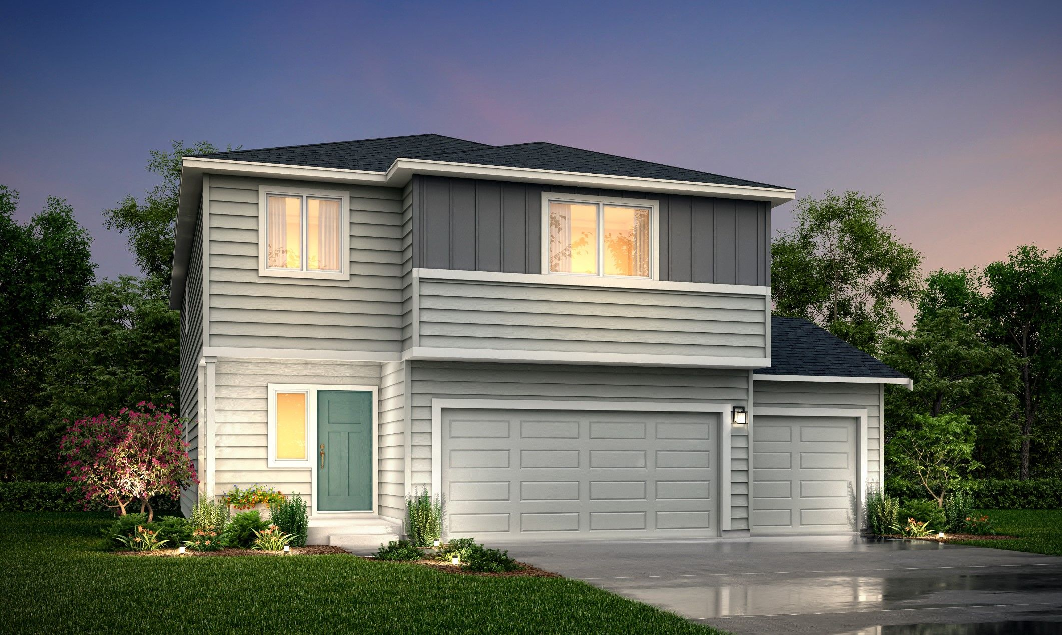 Exterior featured in the 2745-2 Rose By Century Communities in Olympia, WA