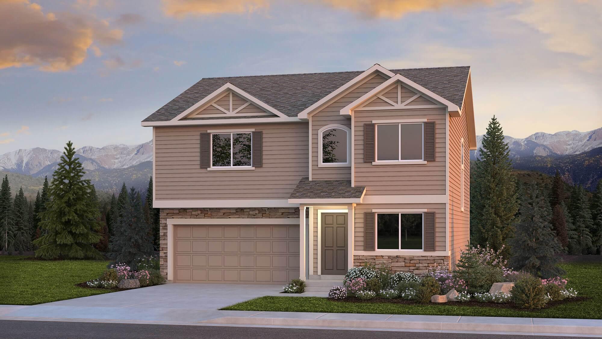 Exterior featured in The Van Buren By Challenger Homes in Fort Collins-Loveland, CO