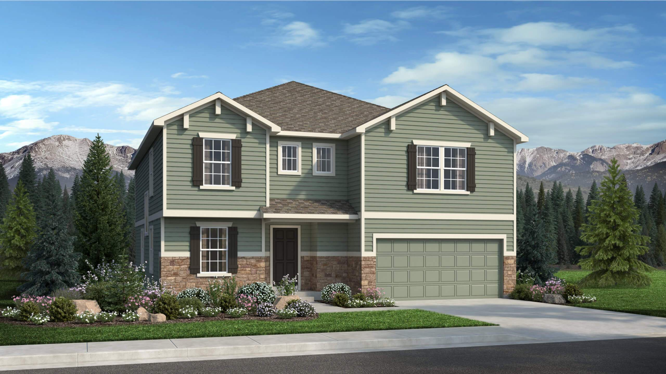 Exterior featured in The Charleston By Challenger Homes in Colorado Springs, CO