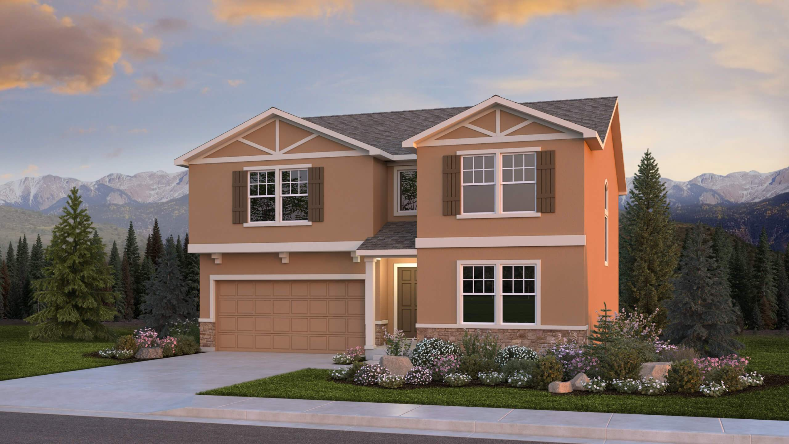 Exterior featured in The Manchester By Challenger Homes in Colorado Springs, CO