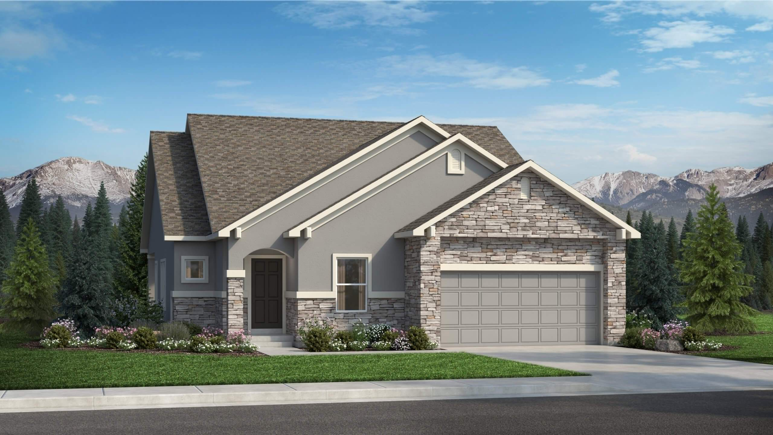 Exterior featured in The Savannah By Challenger Homes in Colorado Springs, CO