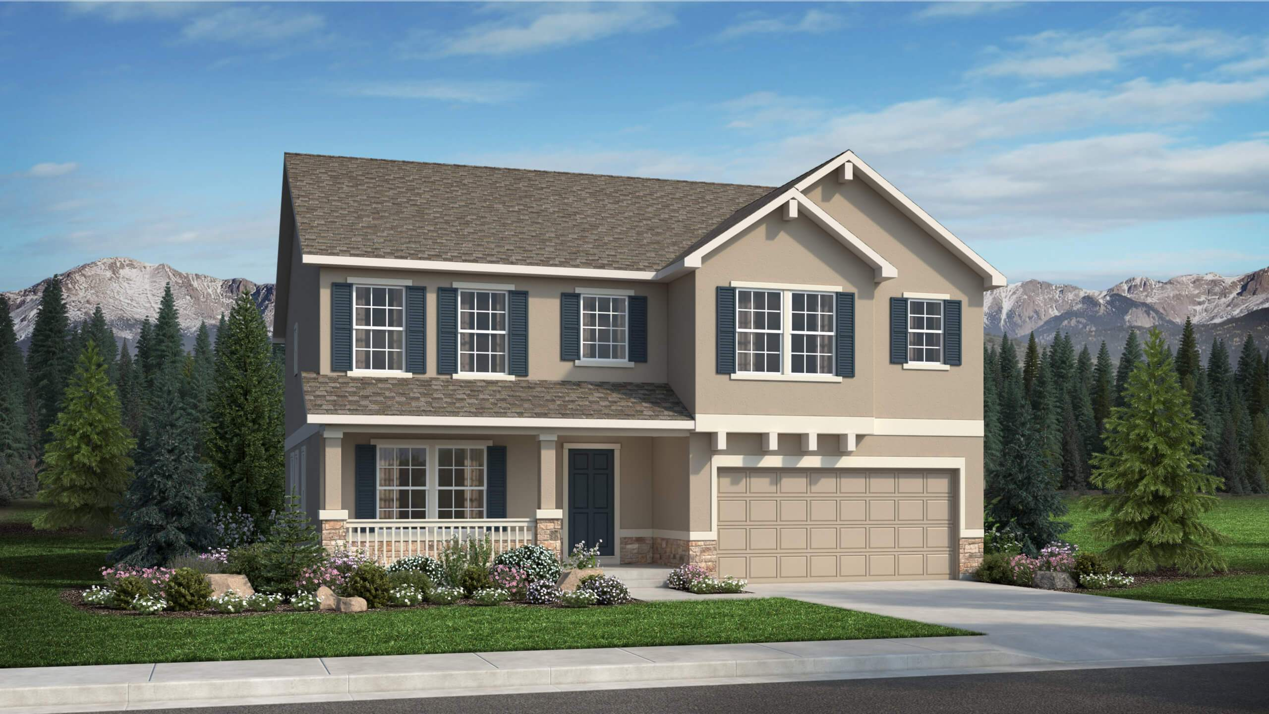 Exterior featured in The Wilmington By Challenger Homes in Colorado Springs, CO