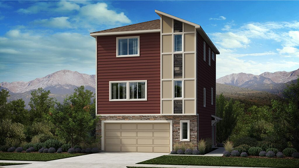 Exterior featured in The Elbert By Challenger Homes in Colorado Springs, CO
