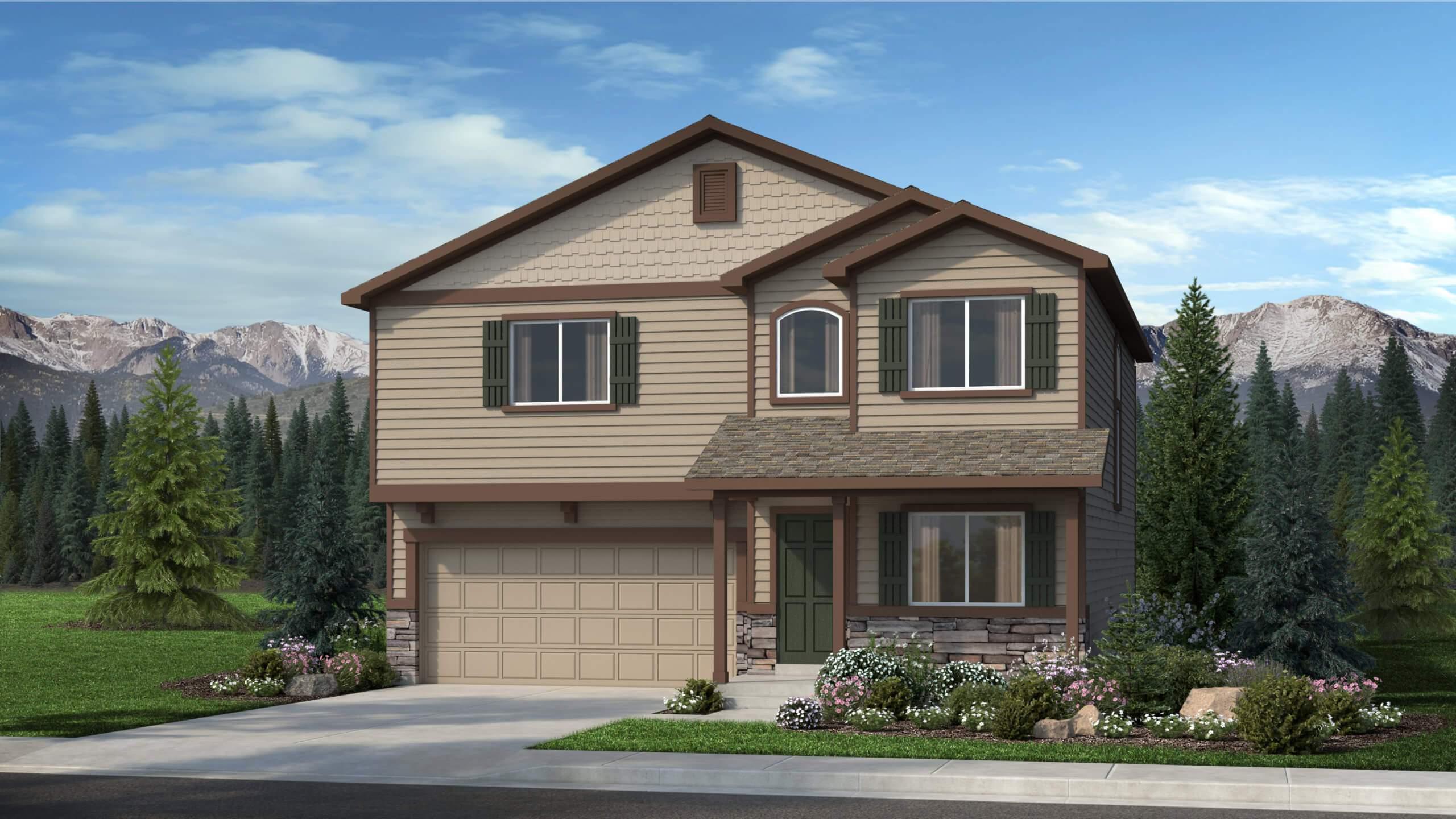 Exterior featured in The Van Buren By Challenger Homes in Colorado Springs, CO