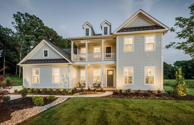 Wakefield:Wakefield Exterior 2 features Hardi Board Siding and Double Front Porch/Deck