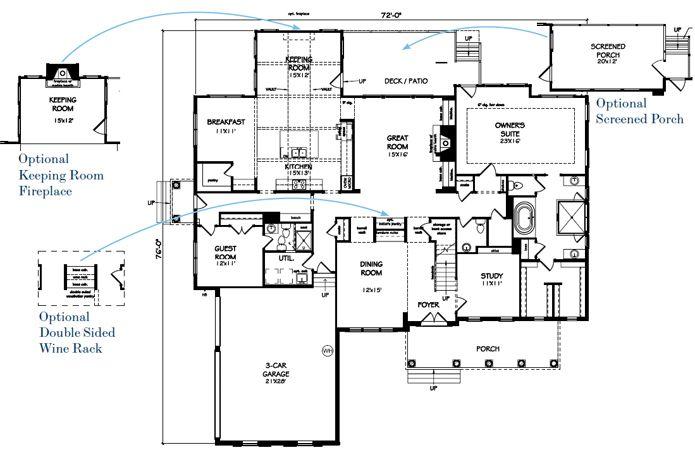The Ansley Floor Plan: John Wieland Floor Plans
