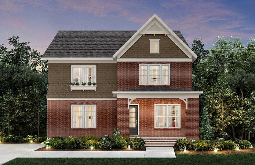 Exterior featured in the Wallace By John Wieland Homes in Atlanta, GA