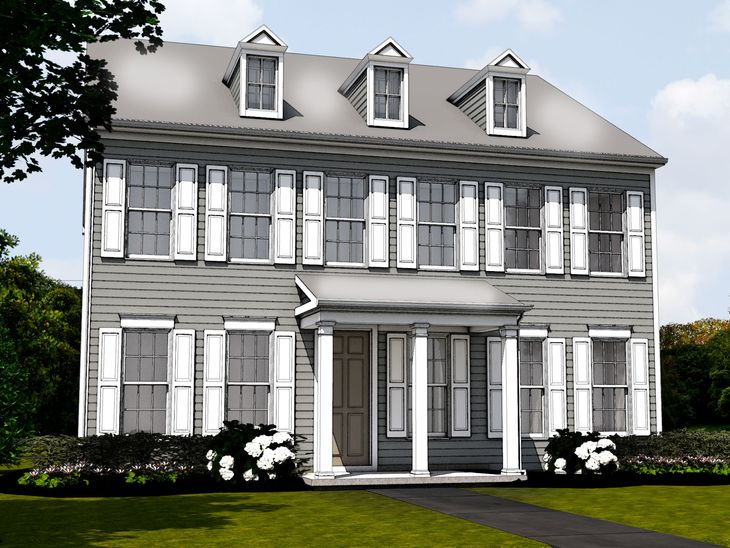 The Glenmar:Traditional Elevation