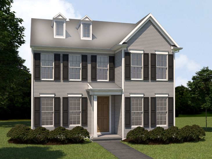 The Cutler:Traditional Elevation