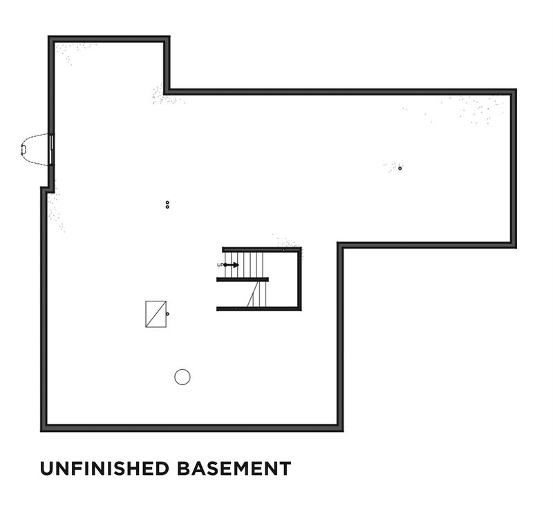 Lower Level Unfinished Floor Plan