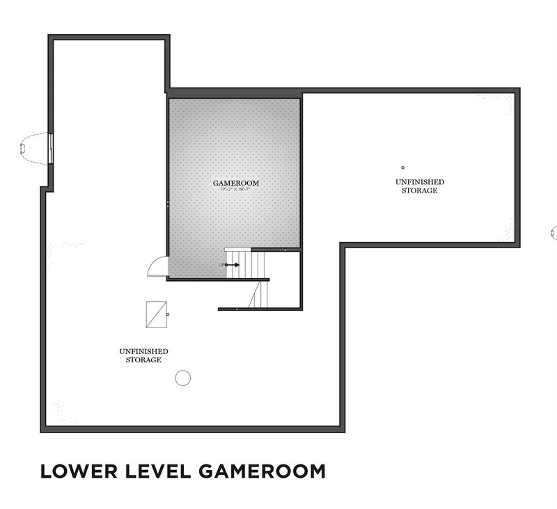 Lower Level Gameroom Floor Plan