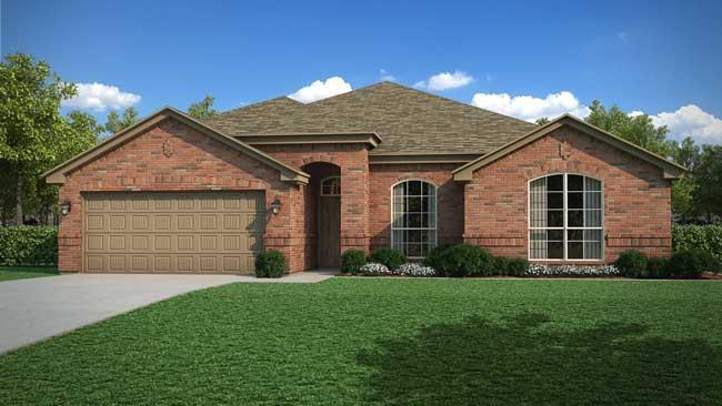 Exterior featured in the Iverson By Cheldan Homes in Fort Worth, TX