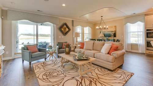 Greatroom-and-Dining-in-The Driftwood - The Cottages-at-Bridgewater-in-Little River