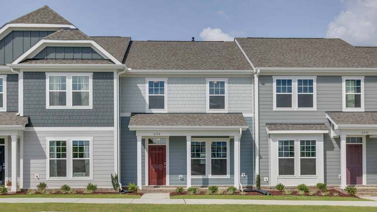 Exterior featured in the The Lemongrass By Chesapeake Homes in Raleigh-Durham-Chapel Hill, NC