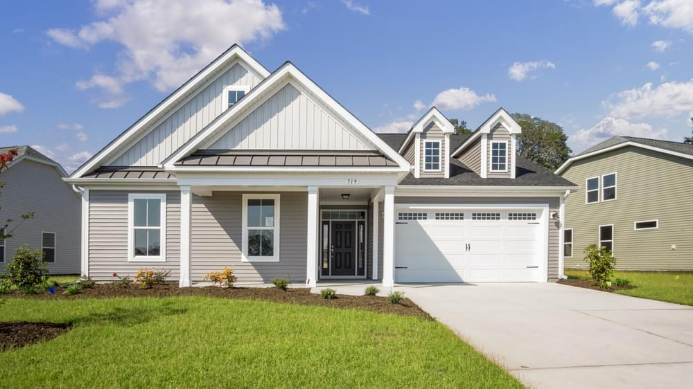 Exterior featured in The Oceanside By Chesapeake Homes in Myrtle Beach, SC