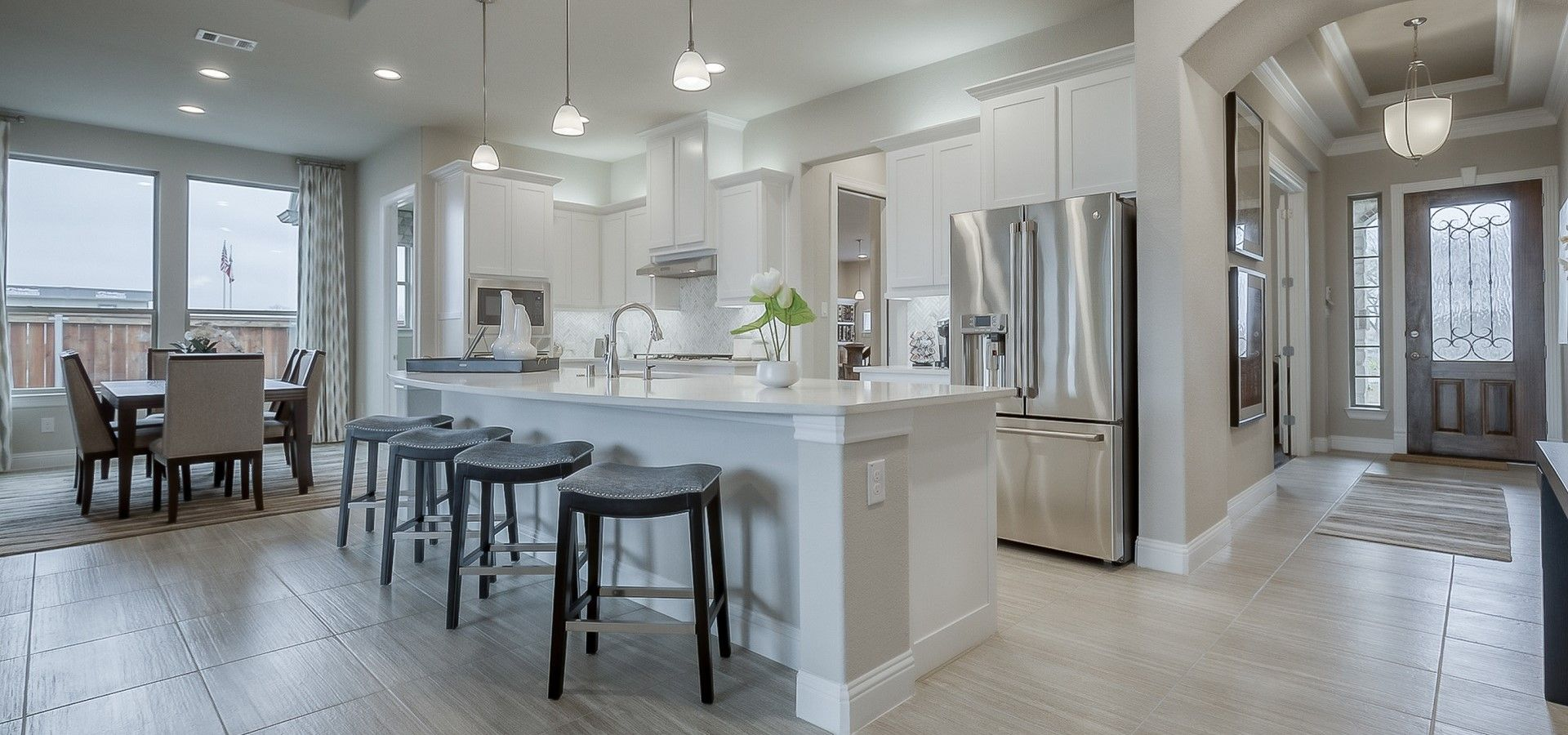 Kitchen featured in the Brookville By Chesmar Homes in Dallas, TX