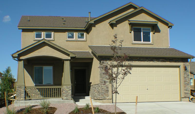 Exterior featured in the Capstone By Classic Homes in Colorado Springs, CO