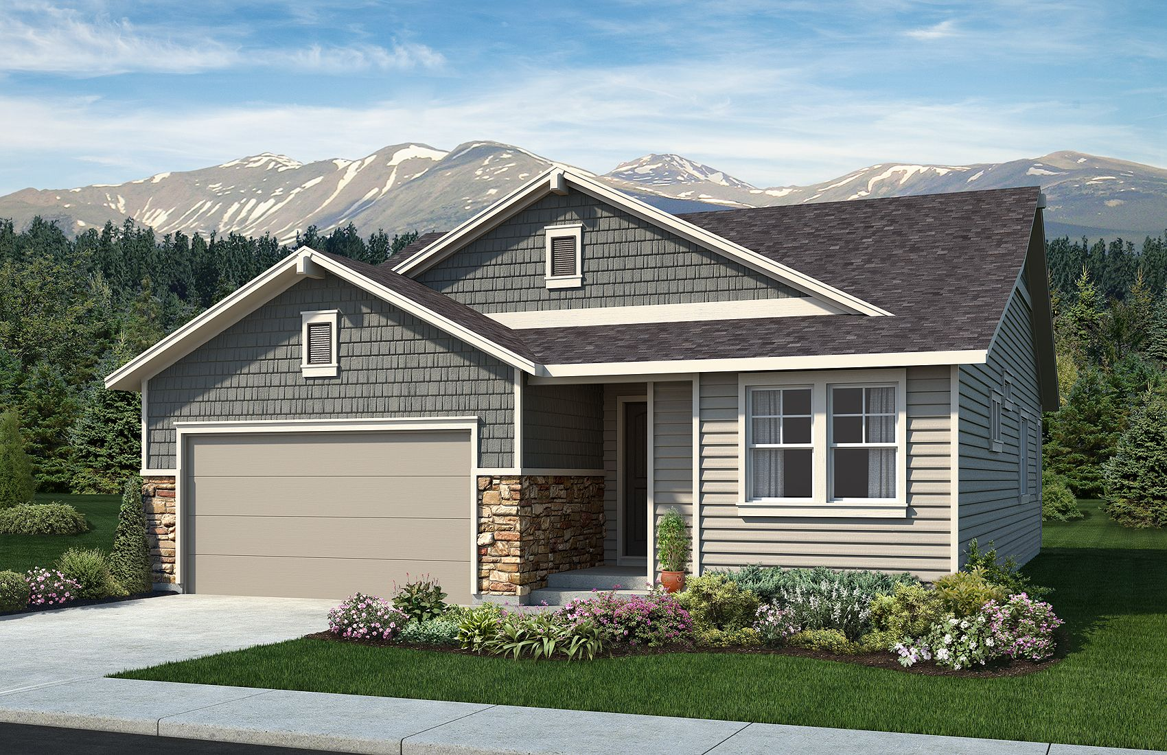 Exterior featured in the Celebration By Classic Homes in Colorado Springs, CO
