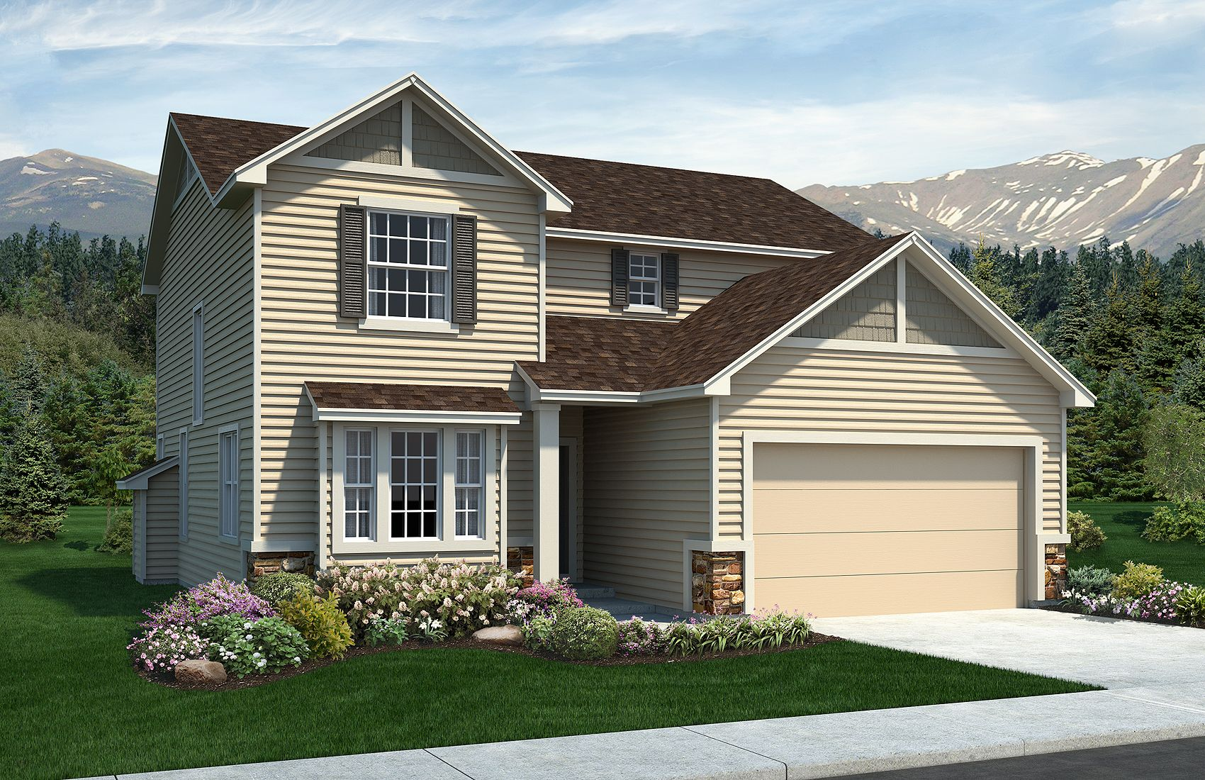 Exterior featured in the Sierra By Classic Homes in Colorado Springs, CO