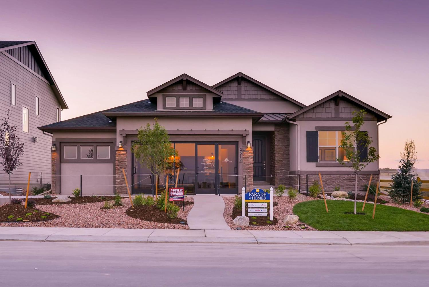 Exterior featured in the Daybreak By Classic Homes in Colorado Springs, CO