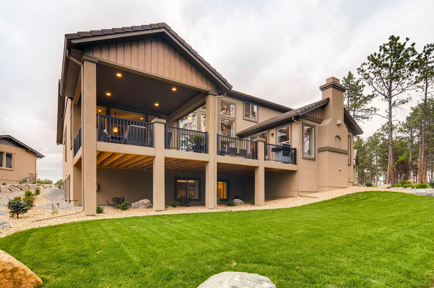 Exterior featured in the Dynasty By Classic Homes in Colorado Springs, CO