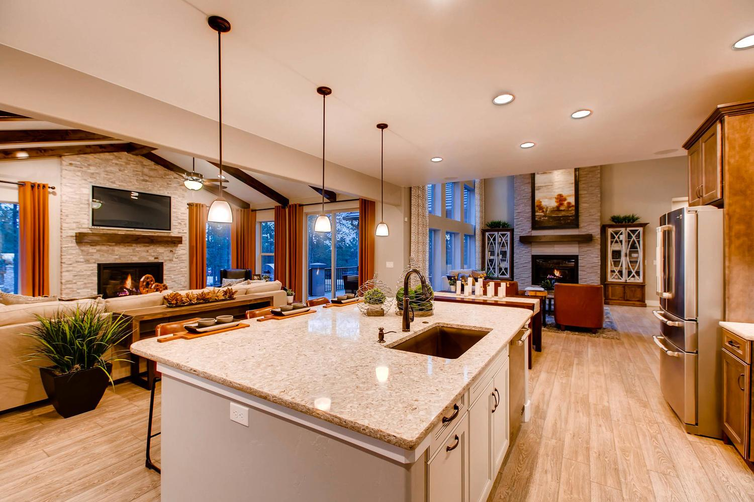 Kitchen featured in the Dynasty By Classic Homes in Colorado Springs, CO