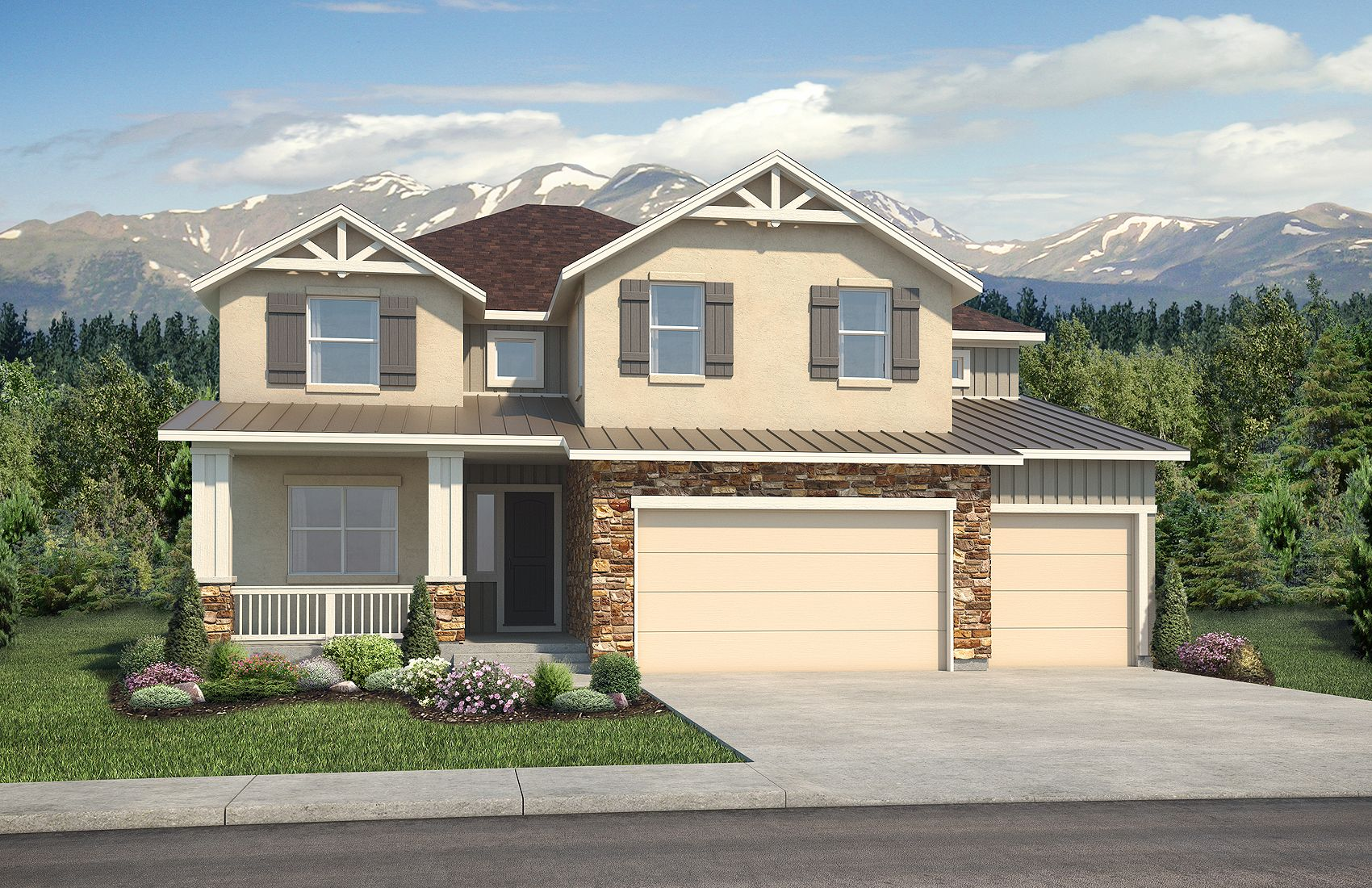 Exterior featured in the Grand Mesa By Classic Homes in Colorado Springs, CO
