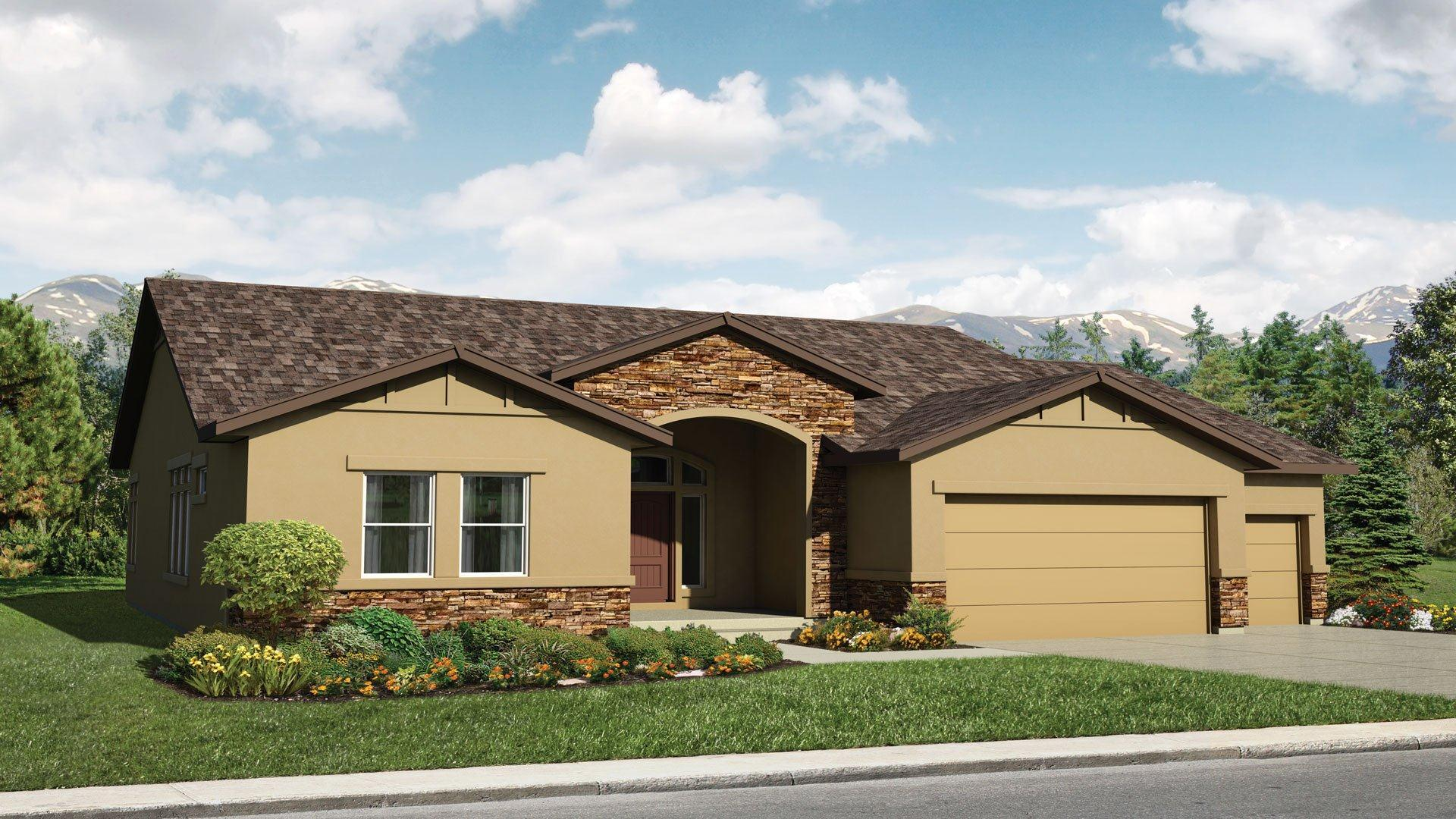 Exterior featured in the Ashton By Classic Homes in Colorado Springs, CO