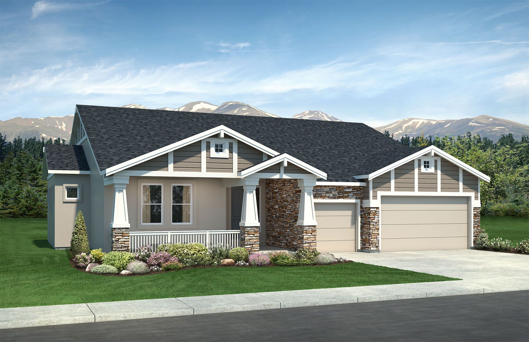 Exterior featured in the Grandview By Classic Homes in Colorado Springs, CO