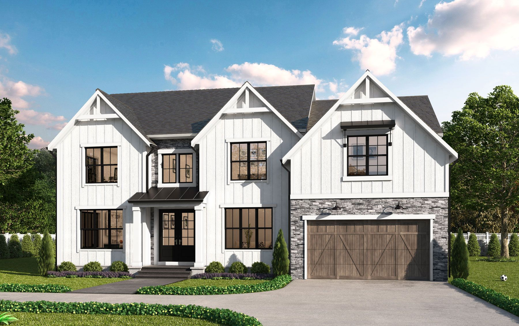 Exterior featured in the Hampton 400FH By Classic Homes of Maryland  in Washington, MD