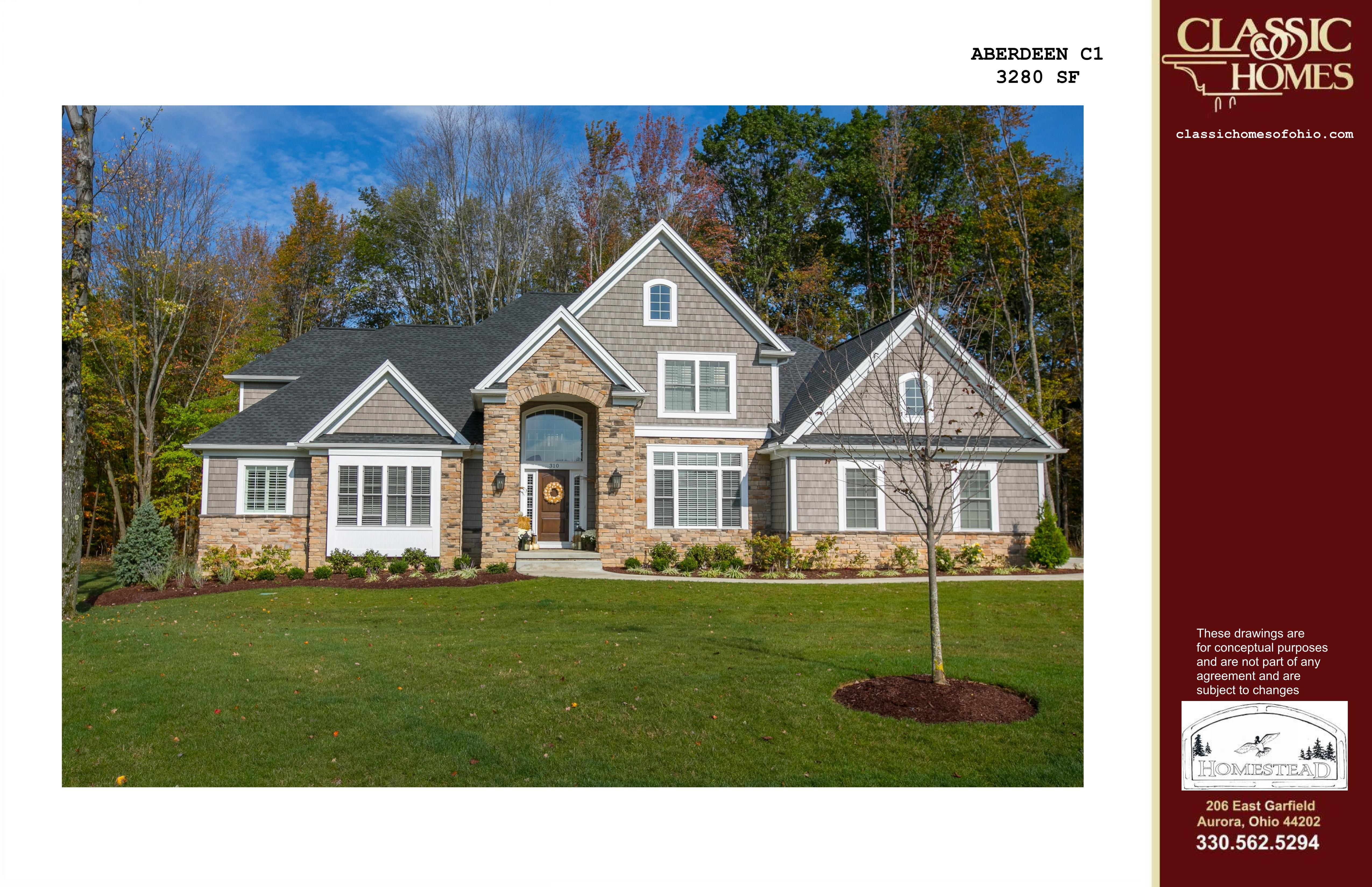 Exterior featured in the Aberdeen C1 By Classic Homes in Akron, OH