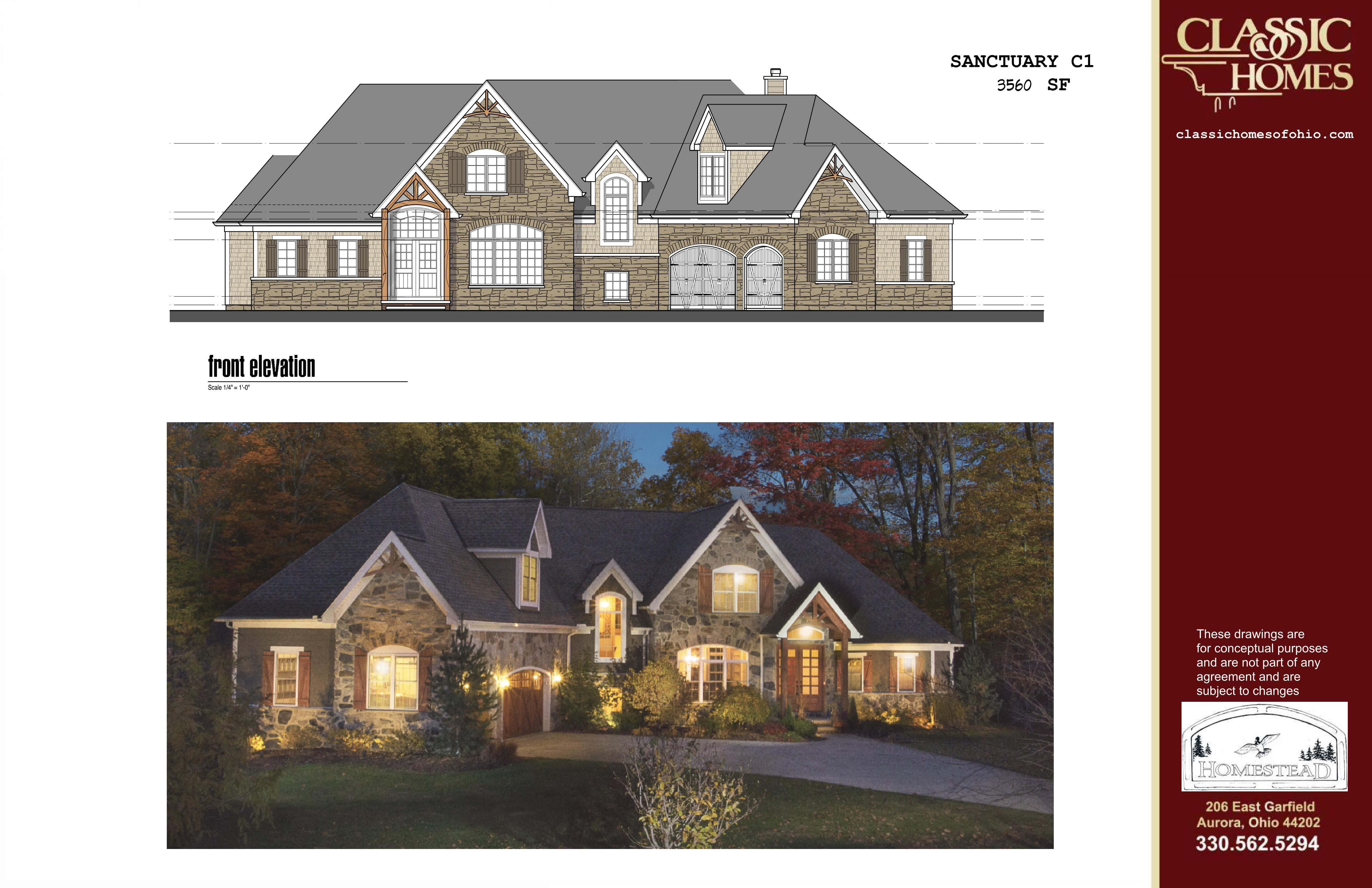 Exterior featured in the Sanctuary C1 By Classic Homes in Akron, OH