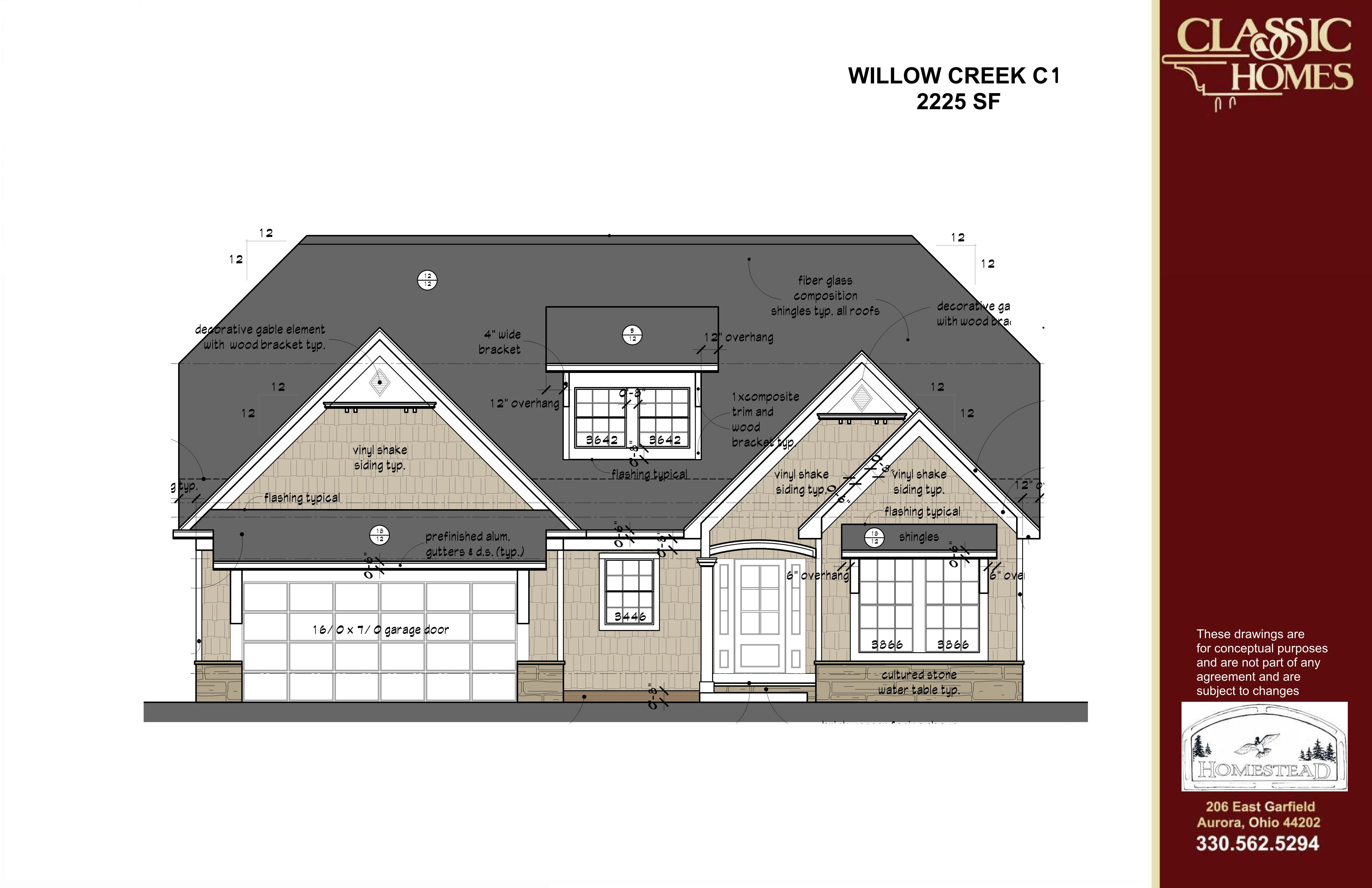 Exterior featured in the Willow Creek C1 By Classic Homes in Akron, OH