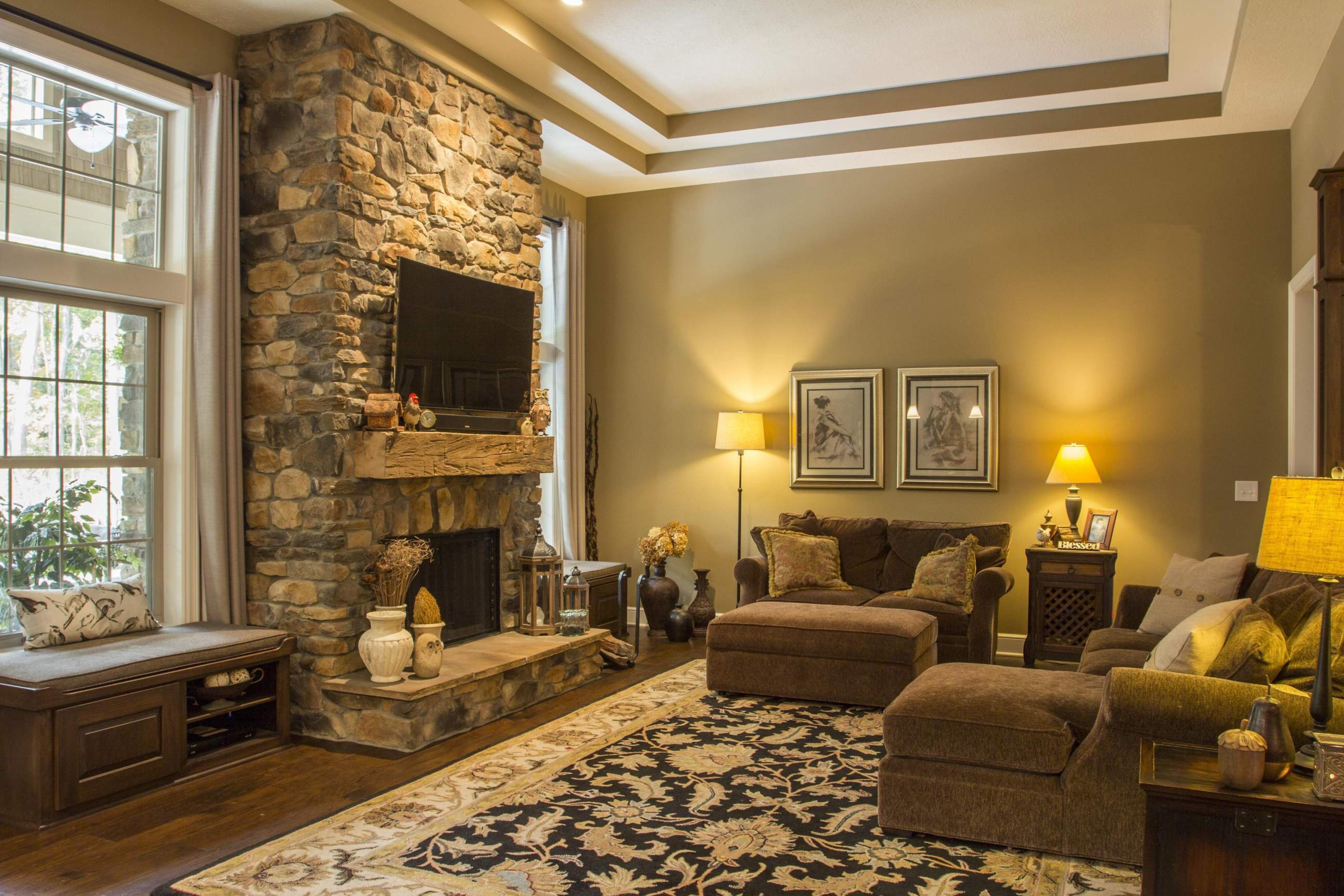 Living Area featured in the Cleveland C1 By Classic Homes in Akron, OH