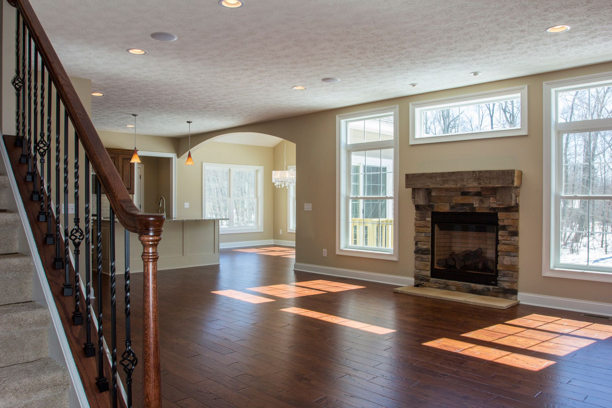 Living Area featured in the Caldwell C1 By Classic Homes in Akron, OH