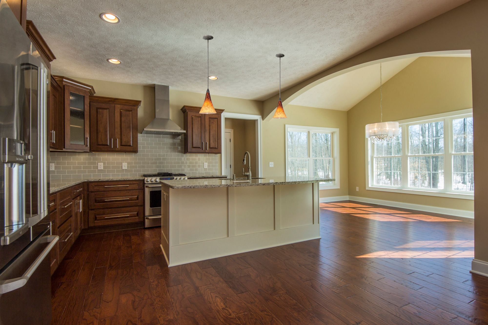 Kitchen featured in the Caldwell C2 By Classic Homes in Akron, OH